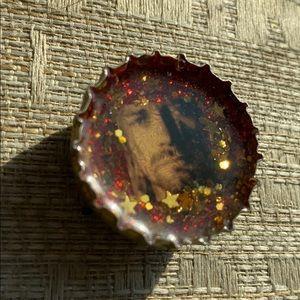 Kurt Cobain Nirvana Bottlecap Magnet